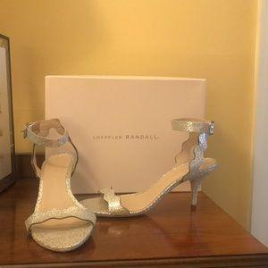 Loeffler Randall Reina silver heels